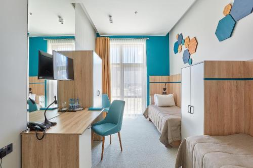 A seating area at Aqua-Minsk Hotel Plus