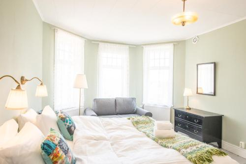 Säng eller sängar i ett rum på STF Villa Söderåsen
