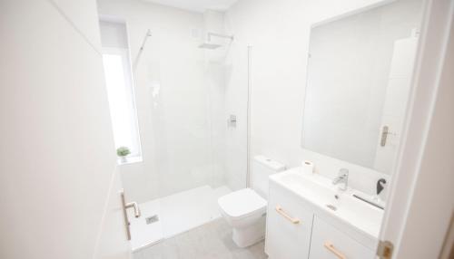 A bathroom at Happy Hostal Carrales