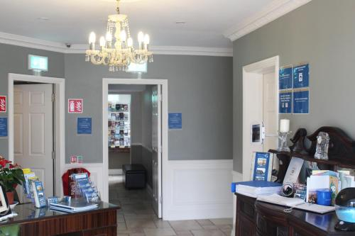 The lobby or reception area at St. Judes Lodge B&B