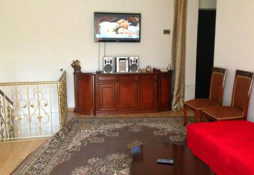 A television and/or entertainment center at Goga's Apartment