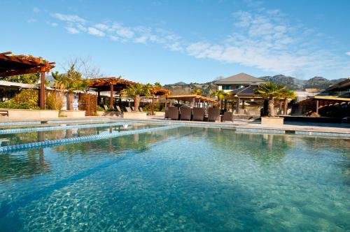 The swimming pool at or near Calistoga Spa Hot Springs