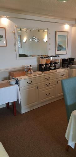 A kitchen or kitchenette at Shipping Lanes Hotel