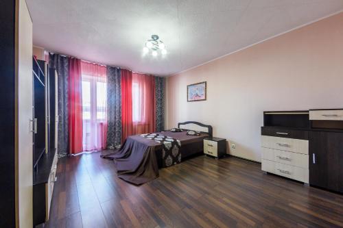 Телевизор и/или развлекательный центр в Apartment Soft near Grinvich