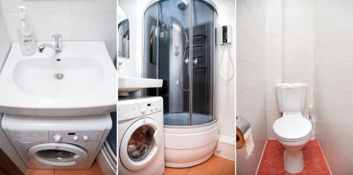 A bathroom at Apartments at Michurina 15
