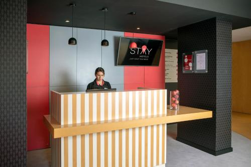 The lobby or reception area at Stay Hotel Faro Centro