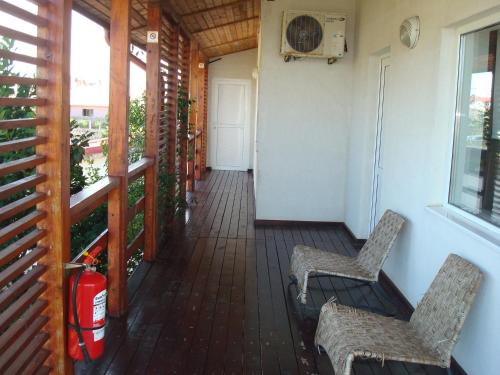 A balcony or terrace at Pension Oasis