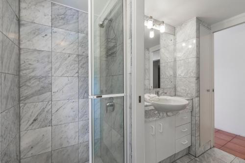 A bathroom at The Cove Noosa