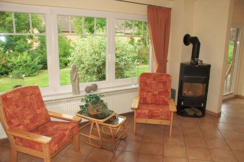 Ein Sitzbereich in der Unterkunft Ferienhof Christian und Antje Hopp
