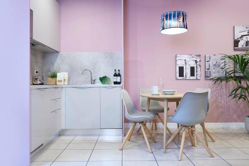 Una cocina o zona de cocina en Residence Leopoldo