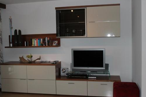 A television and/or entertainment center at Haus Anni