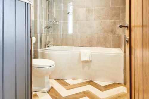A bathroom at The Millstone, Mellor