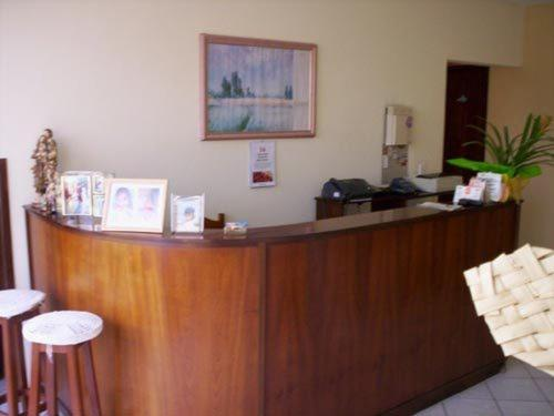 The lobby or reception area at Gaivotas Praia Hotel