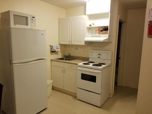 A kitchen or kitchenette at Blue Belle Motel