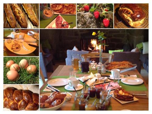 Een restaurant of ander eetgelegenheid bij A L'Ombre du Tilleul