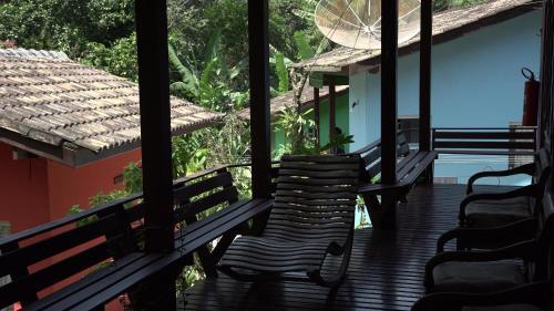 Uma varanda ou terraço em Pousada do Riacho/Trindade