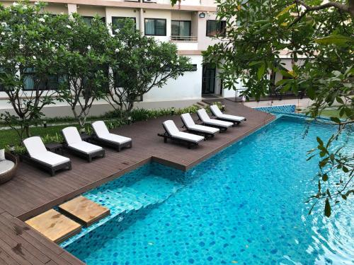 The swimming pool at or near The Grand Napat