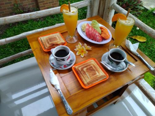 Breakfast options available to guests at Angels Bungalow Nusa Penida