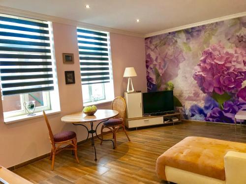 TV a/nebo společenská místnost v ubytování Apartment Dream