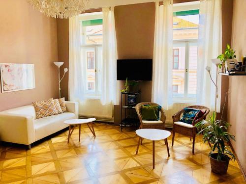Część wypoczynkowa w obiekcie Adam&Eva Hostel Prague
