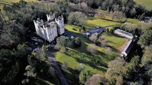 A bird's-eye view of Langley Castle Hotel