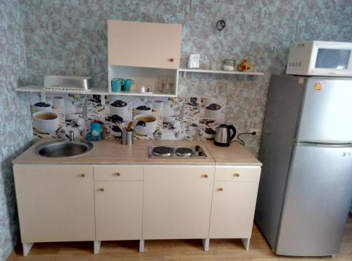 Кухня или мини-кухня в Flower in Pushkin
