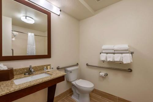 A bathroom at Comfort Suites Downtown