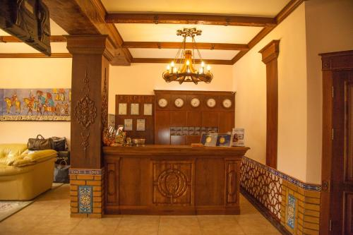 The lobby or reception area at Platan