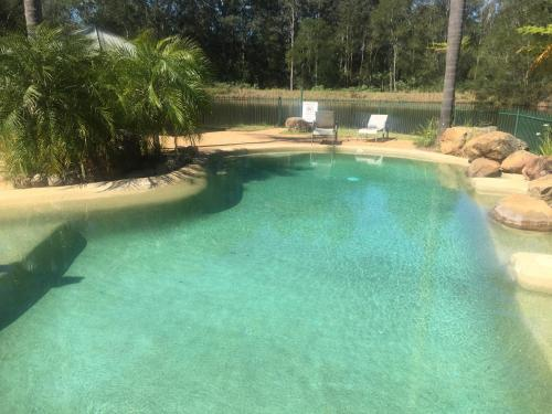 The swimming pool at or near Blackwattle at Barrington Tops