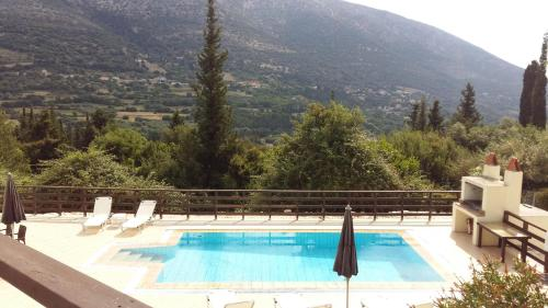 The swimming pool at or near Villas Ormofia & Ourania