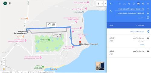 The floor plan of Coral Beach Resort Tiran (Ex. Rotana)