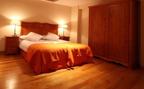 Cama o camas de una habitación en Casa Rural Espargoiti
