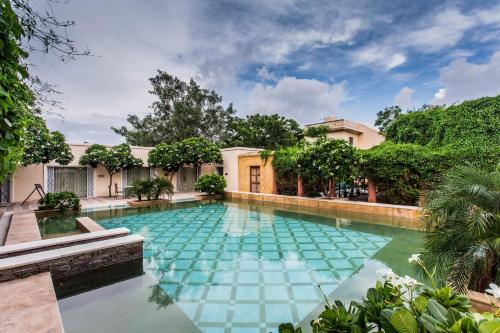 The swimming pool at or close to Royal Heritage Haveli