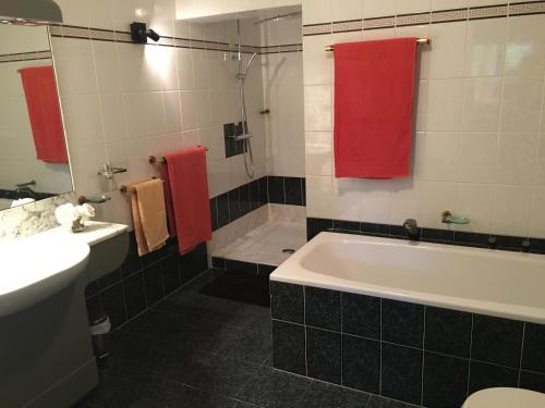 A bathroom at Chambres d'hôtes le Vieux Chêne