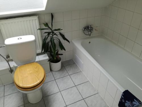 A bathroom at Pension Egida
