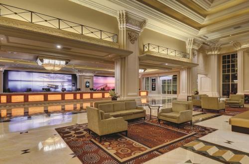 The lobby or reception area at Mandalay Bay
