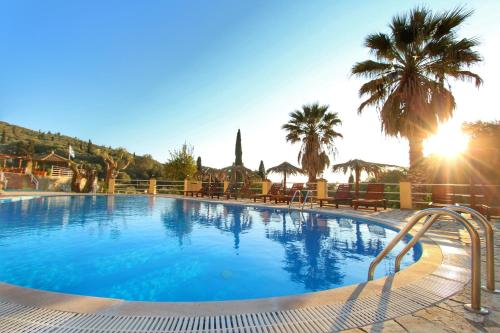 The swimming pool at or close to Avra Sunset Sea View Liapades