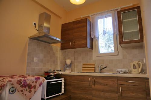 Η κουζίνα ή μικρή κουζίνα στο Evaland Traditional Houses