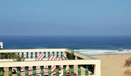 Vue générale sur la mer ou vue sur la mer prise depuis le B&B/chambre d'hôtes
