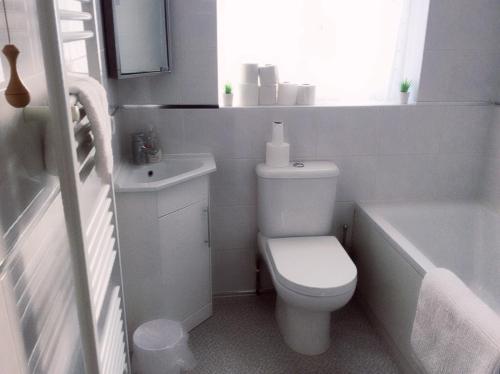 A bathroom at Bexleyheath Town Centre House