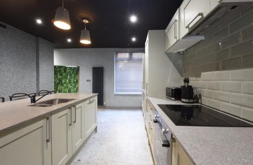 A kitchen or kitchenette at La Jungle Du Swan