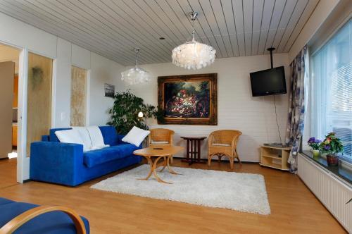Oleskelutila majoituspaikassa Laatokan Portti Apartments