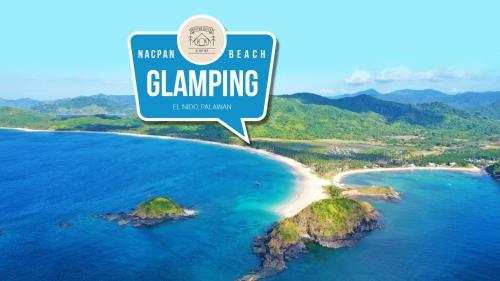 A bird's-eye view of Nacpan Beach Glamping