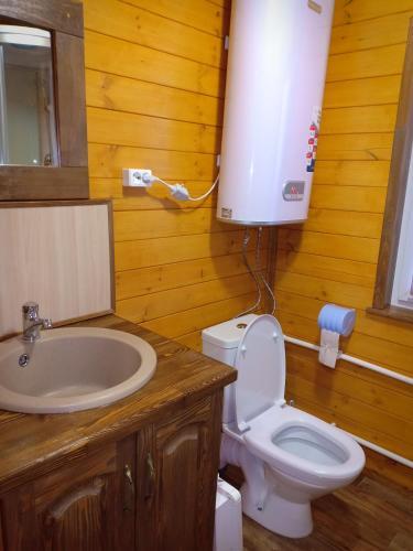 A bathroom at Zyuratkul - Dom Tayozhnika