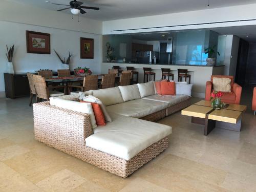 Zona de estar de Tannah Luxury Beachfront Apartment