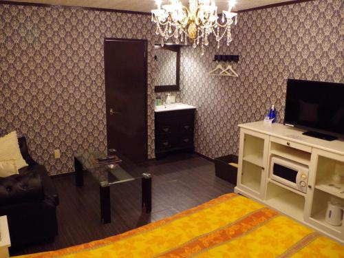 A television and/or entertainment centre at the Hotel Prince