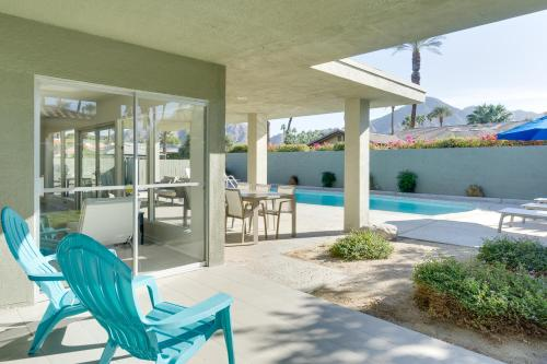 The swimming pool at or near Upscale Palm Springs Corner Lot Home