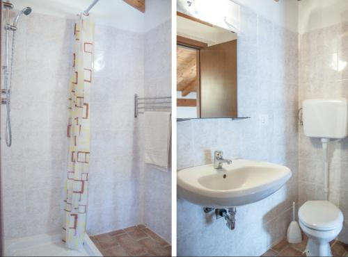 A bathroom at Agriturismo Madonna Dei Ceppi