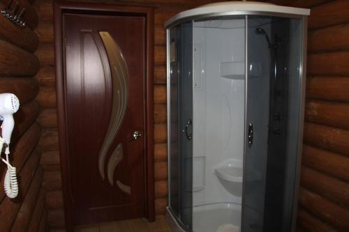 A bathroom at Leis