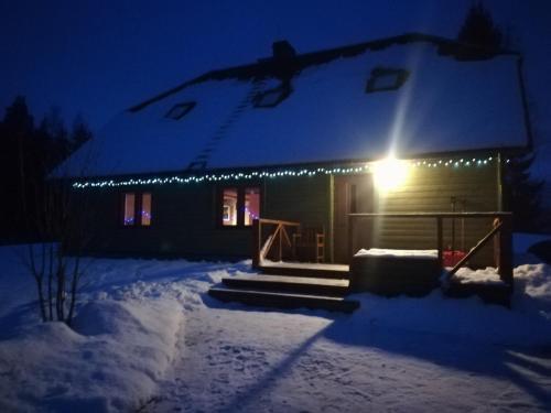 Kõrgemäe puhketalu during the winter